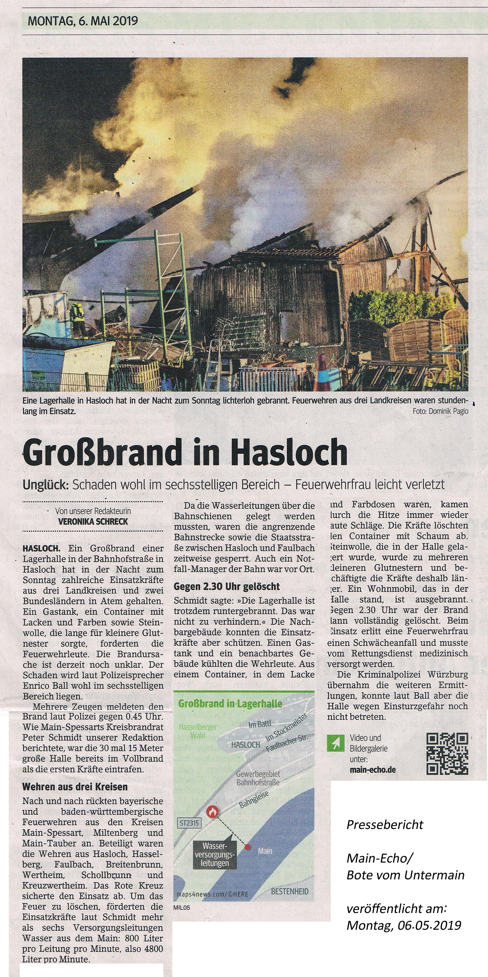 DS Dienstleistungen Tatortreinigung Pressebericht Main-Echo
